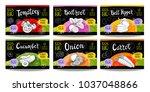 set colorful food labels ... | Shutterstock .eps vector #1037048866