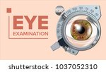 Eye Test Banner Vector....