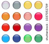 circle glossy button set ... | Shutterstock .eps vector #1037052709