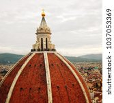city view and firenze duomo... | Shutterstock . vector #1037053369