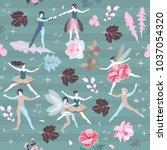 cute cartoon fairies and elves... | Shutterstock .eps vector #1037054320