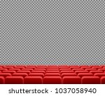vector realistic rows of red...   Shutterstock .eps vector #1037058940
