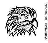 eagle head logo animal   Shutterstock .eps vector #1037062039