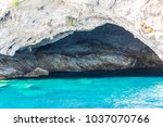 rocks texture at the coastline...   Shutterstock . vector #1037070766