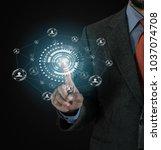 business  technology  internet...   Shutterstock . vector #1037074708