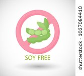 soy free flat vector icon  food ...   Shutterstock .eps vector #1037084410