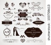 vector design elements and...   Shutterstock .eps vector #103708613