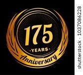 175 years anniversary.... | Shutterstock .eps vector #1037086228