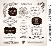 set of vector design elements... | Shutterstock .eps vector #103708640