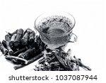 ayurvedic herb liquorice root... | Shutterstock . vector #1037087944