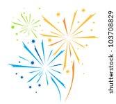vector firework | Shutterstock .eps vector #103708829