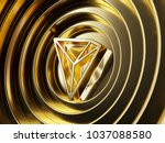 gold tron on the gold circle... | Shutterstock . vector #1037088580