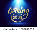 coming soon sign. promotion... | Shutterstock .eps vector #1037092093