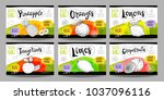 set colorful food labels ... | Shutterstock .eps vector #1037096116