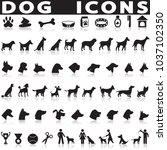 dog icons set | Shutterstock .eps vector #1037102350