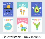 fiesta mexican party... | Shutterstock .eps vector #1037104000
