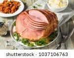 homemade glazed easter spiral...   Shutterstock . vector #1037106763