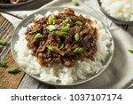 homemade barbecue korean beef... | Shutterstock . vector #1037107174