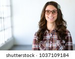 modern hipster eccentric type... | Shutterstock . vector #1037109184