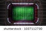 soccer stadium with... | Shutterstock . vector #1037112730