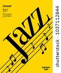 template poster jazz concert   Shutterstock .eps vector #1037112844