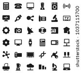 flat vector icon set   washer... | Shutterstock .eps vector #1037115700
