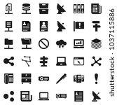 flat vector icon set   pen...   Shutterstock .eps vector #1037115886
