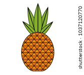 isolated pineapple design | Shutterstock .eps vector #1037120770