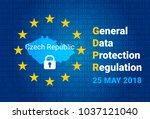 gdpr   general data protection... | Shutterstock .eps vector #1037121040