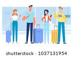 people traveling design.... | Shutterstock .eps vector #1037131954