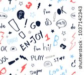 hand writing lettering print... | Shutterstock .eps vector #1037142343