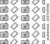grayscale digital camera and...   Shutterstock .eps vector #1037145556