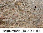 brick wall from tuscan medieval ... | Shutterstock . vector #1037151280