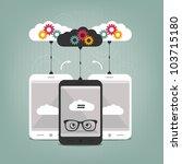 smart phones concept | Shutterstock .eps vector #103715180
