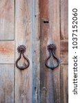 traditional hand made wooden...   Shutterstock . vector #1037152060