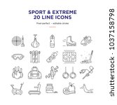 sport and extreme line icons | Shutterstock .eps vector #1037158798