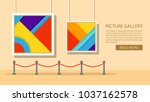 art museum of modern painting... | Shutterstock .eps vector #1037162578