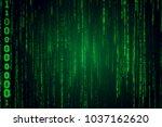 falling binary code in the... | Shutterstock . vector #1037162620