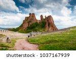 belogradchik cliff rocks and... | Shutterstock . vector #1037167939