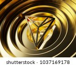 gold tron cryptocurrency symbol ... | Shutterstock . vector #1037169178