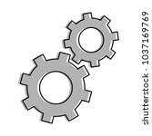 gears machinery isolated icon | Shutterstock .eps vector #1037169769