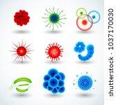 realistic 3d microscopic... | Shutterstock .eps vector #1037170030
