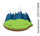 alps peakes icon over white...   Shutterstock .eps vector #1037172838
