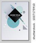 hipster memphis design placard... | Shutterstock .eps vector #1037175910