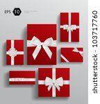 vector gift wrapping collection | Shutterstock .eps vector #103717760