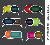 colorful speech bubbles | Shutterstock .eps vector #103718189