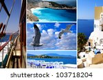 set of summer photos of... | Shutterstock . vector #103718204
