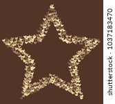 heart brown pattern which... | Shutterstock .eps vector #1037183470