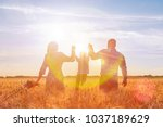 concept of a happy family. dad...   Shutterstock . vector #1037189629
