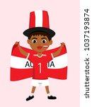 fan of austria national... | Shutterstock .eps vector #1037193874